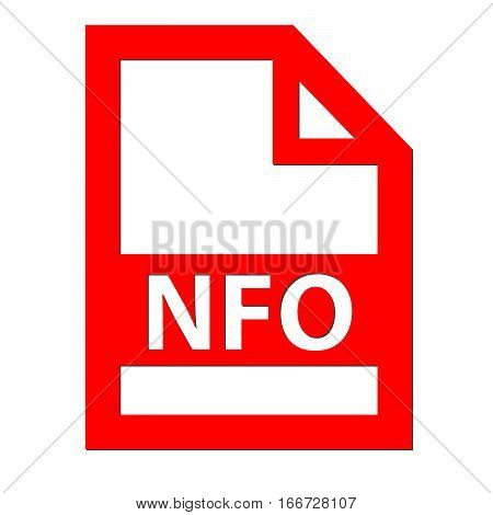 NFO file icon with a white background