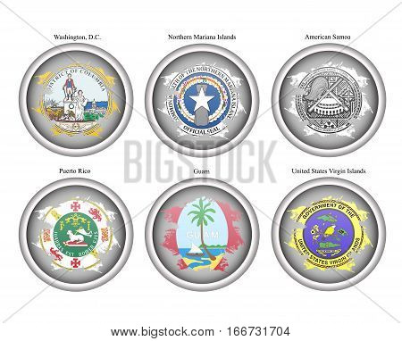 States Of Usa Seals. Vector.