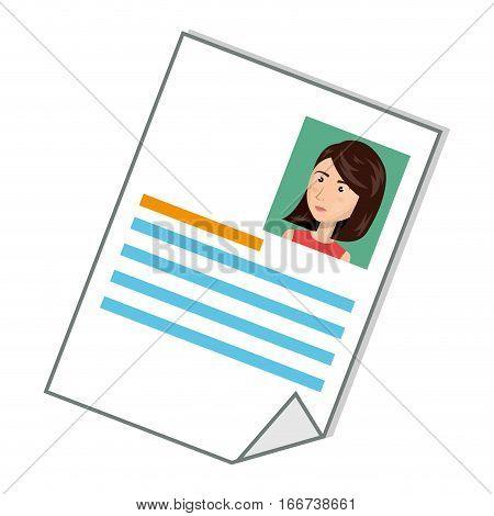 curriculum vitae document icon vector illustration design