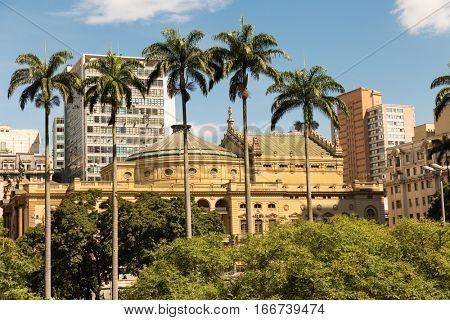 Municipal Theater Anhangabau Valley in Sao Paulo, Brazil