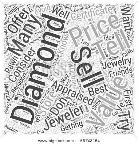 how to sell a diamond Word Cloud Concept