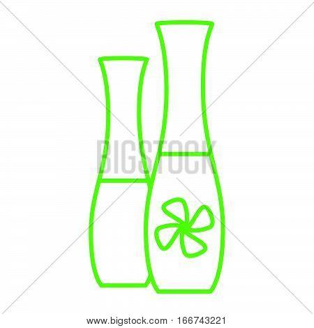 Simple green thinline deodorizer bottle icon vector