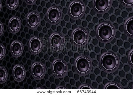 series of speakers of the loudspeaker seamless texture effect background