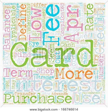 How To Shop For A Low Apr Credit Card text background wordcloud concept