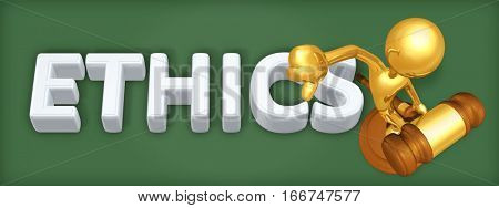 Ethics Law Legal Concept With The Original 3D Character Illustration