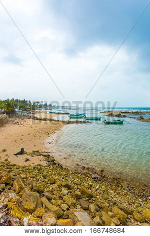 Jaffna Point Pedro Fishing Boats Coast Ocean V