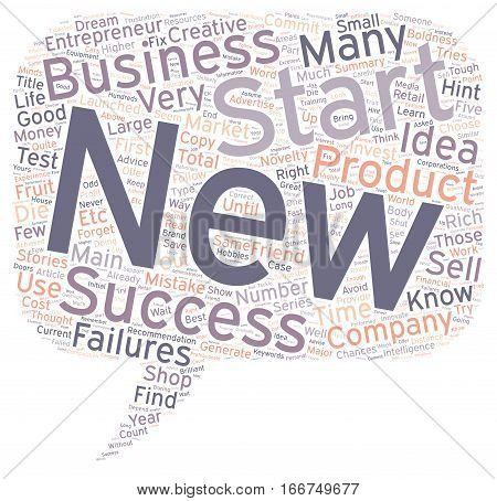 How To Start A New Business Five Major Hints text background wordcloud concept