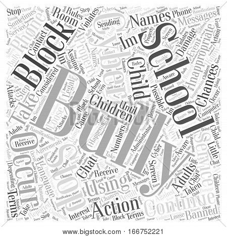 How to Stop Cyber Bullying Word Cloud Concept