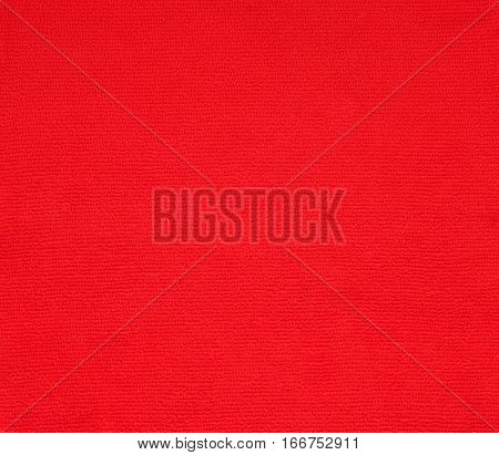 surface red fabric cotton texture for background