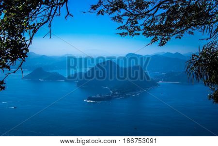 Guanabara Bay View from SugarLoaf Mountain Rio Brazil