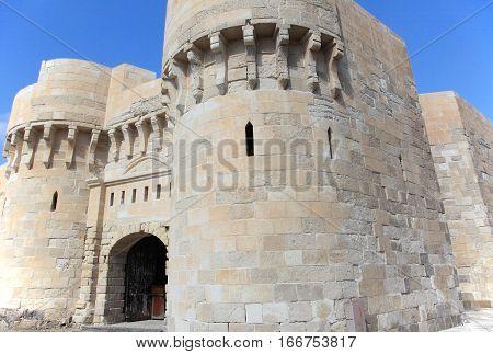 ancient Citadel of Qaitbay in Alexandria, Egypt