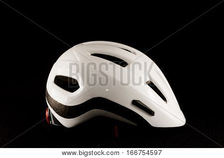 White Bicycle Bike Safety Helmet