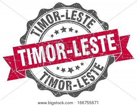 Timor-Leste. round isolated grunge vintage retro stamp