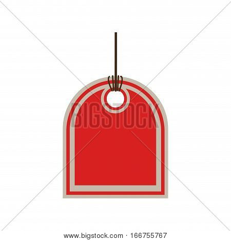 color price tag with side oval shape vector illustration