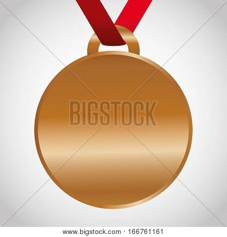 blank bronze medal icon image vector illustration design