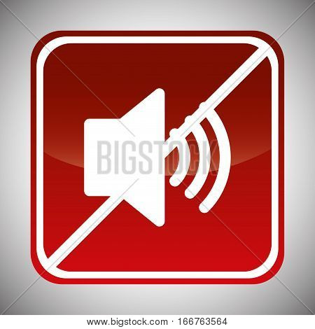 strong noises forbidden icon image vector illustration design