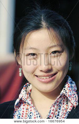 women's smile face