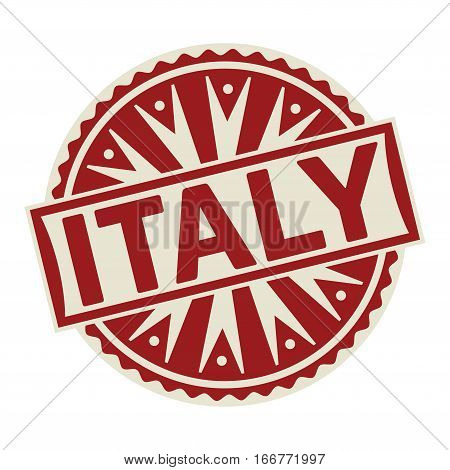 Stamp label or tag business concept with the text Italy vector illustration.