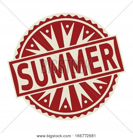 Stamp label or tag business concept with the text Summer vector illustration.
