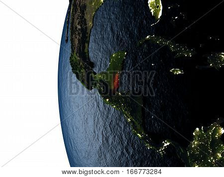 Sunset Over Belize From Space