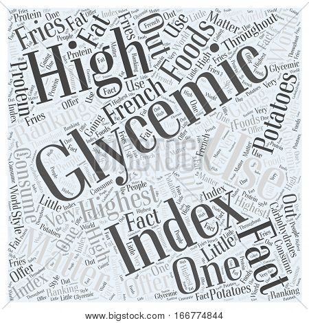 How to use the glycemic index Word Cloud Concept