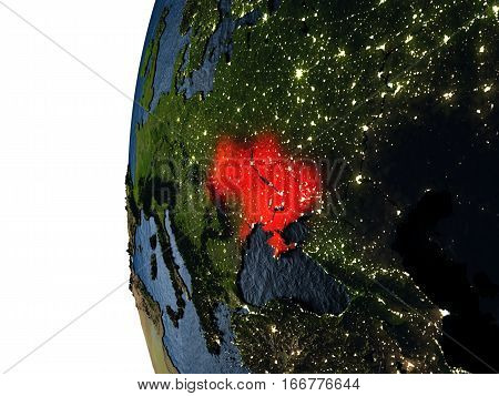 Sunset Over Ukraine From Space
