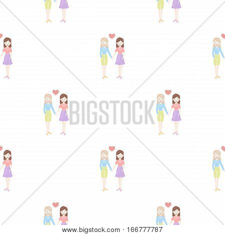 Lesbian icon cartoon. pattern gay icon from the big minority, homosexual cartoon. - stock vector