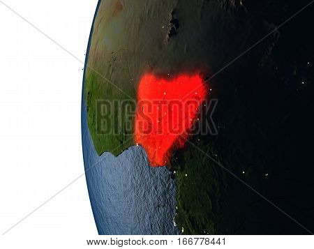 Sunset Over Nigeria From Space