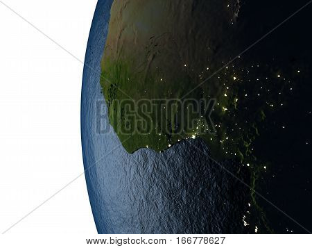 Sunset Over Ghana From Space