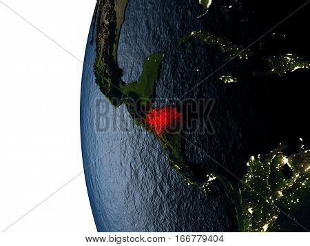 Sunset Over Honduras From Space