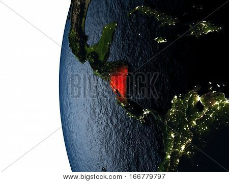 Sunset Over Nicaragua From Space
