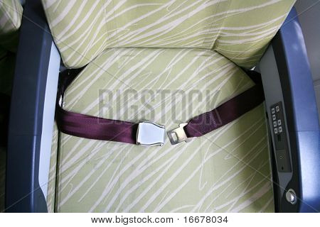 seat belt in airplane