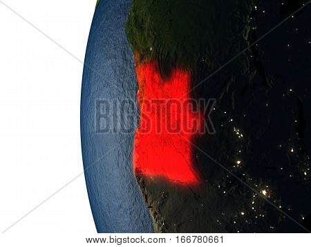 Sunset Over Angola From Space