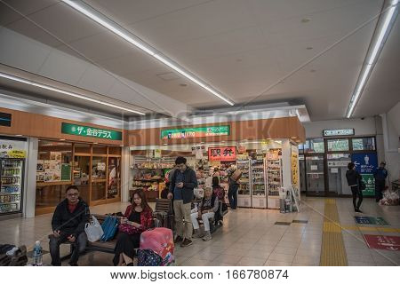 NIKKO, JAPAN - OCTOBER 15 ,2016 :  indoor train station , railway station on the Tobu Nikko Line a famous Landmark