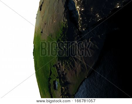 Sunset Over Ethiopia From Space
