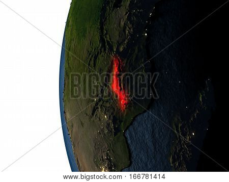 Sunset Over Malawi From Space