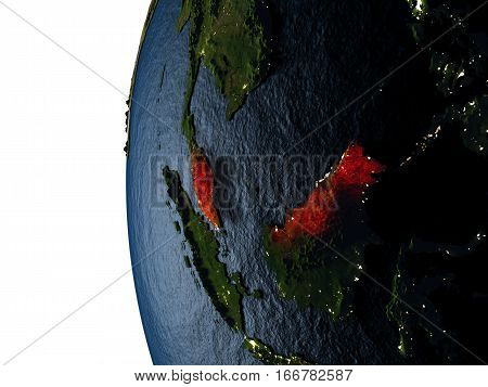 Sunset Over Malaysia From Space