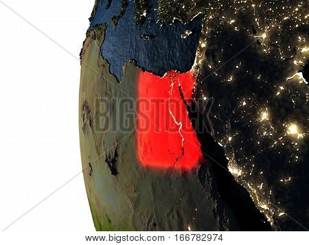 Sunset Over Egypt From Space