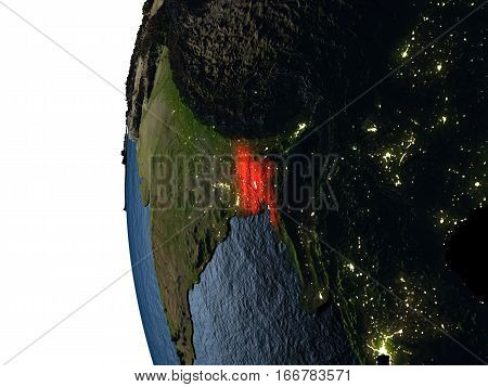 Sunset Over Bangladesh From Space