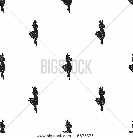 Hunted duck icon in black style isolated on white background. Hunting pattern vector illustration.