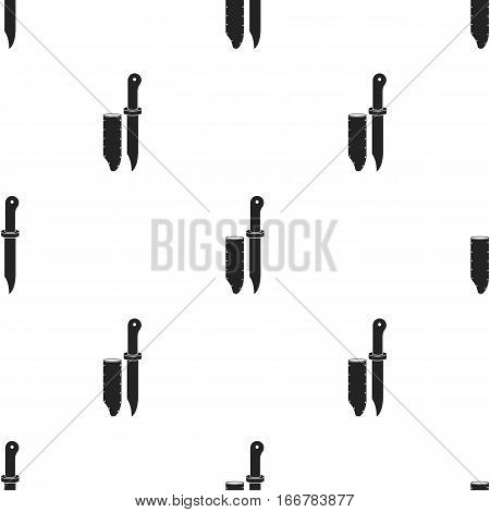 Hunting knife icon in black style isolated on white background. Hunting pattern vector illustration.