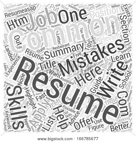 How To Write A Resume Word Cloud Concept