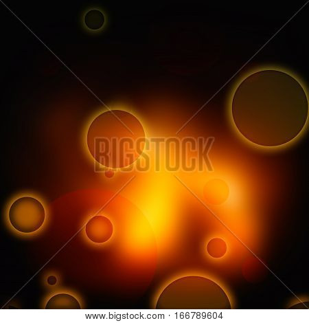 Abstract background image. Yellow circles on black and yellow background.