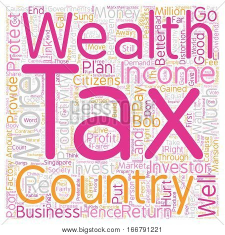 How Wealth Tax Is Better Than Income Tax text background wordcloud concept