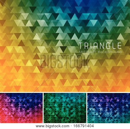 Triangular abstract background. Low poly and geometric vector background series suitable for design element and web background