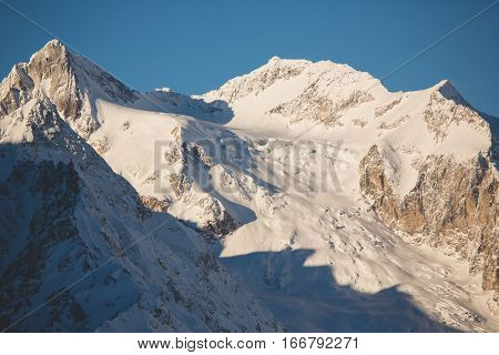 Mountain top in the mountains of Dombai, Caucasus.