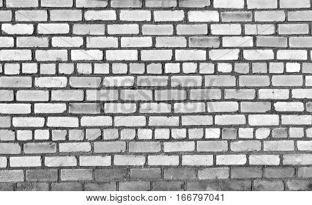 Old Black And White Brick Wall Texture.