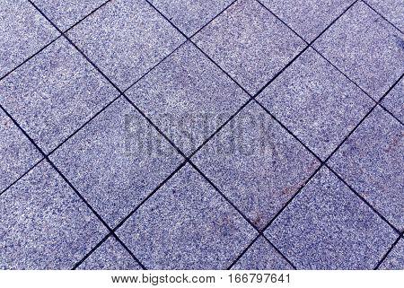 Blue Color Pavement Texture.