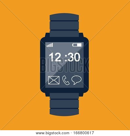 Smartwatch icon, design element for mobile and web applications, eps 10