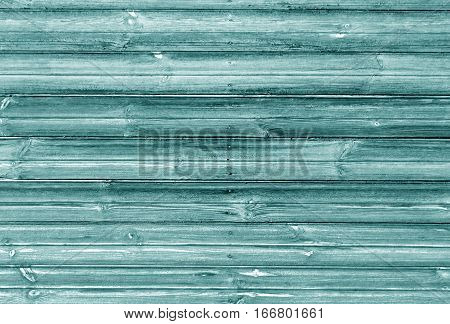 Cyan Color Wooden Wall Texture.